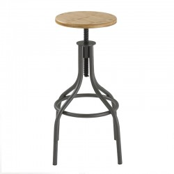 Stool in wood and metal - Industrial style