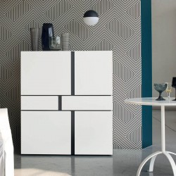 High sideboard with drawers and doors - Abaco
