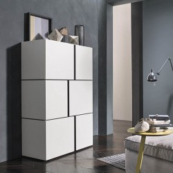 High sideboard with asymmetrical doors - Abaco