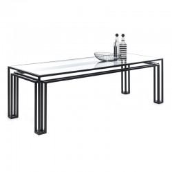Tavolo metallo nero e vetro...