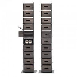 Manolo ash wood shoe cabinet