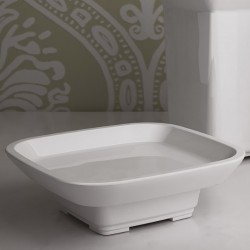 Ceramic standing soap-dish...