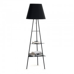 Floor lamp in painted metal -Tribeca