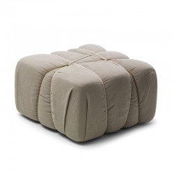 Padded pouf in fabric - Che...