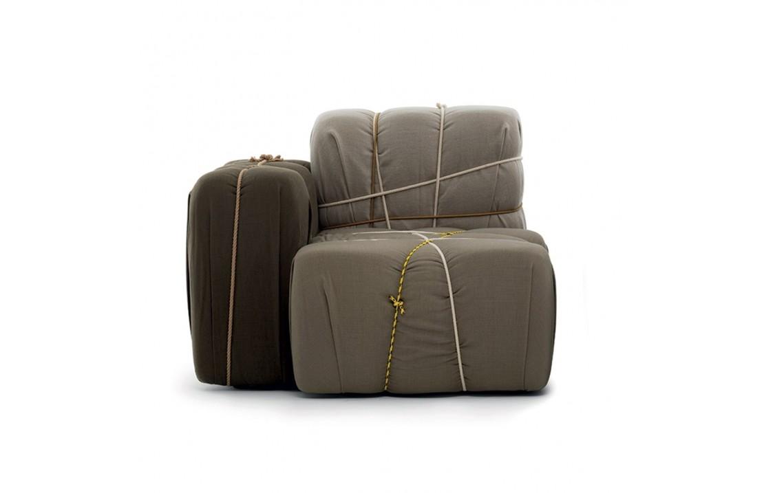 Padded fabric armchair - ControPakko