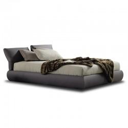 Padded bed with reclining headboard - Maori