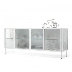Sideboard with glass doors...