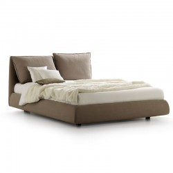 Padded bed with reclining headboard - Cherie