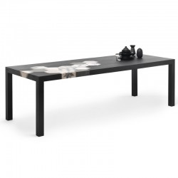 Dining table in black wood...