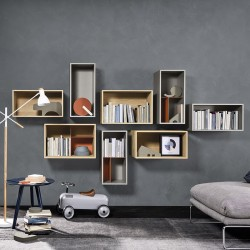 Open composition 2 bookcase with open units