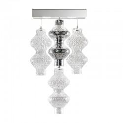 Lampada led da parete con pendenti in vetro - Onda