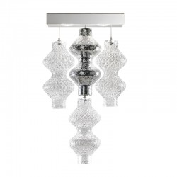 Led wall lamp with glass elements - Onda