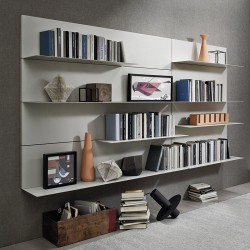 Bookcase with boiserie -...