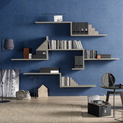 Modo composition bookcases with shelves