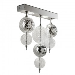 Wall LED lamp with glass...