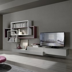 Modo composition with shelves and TV wall units