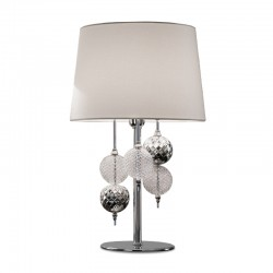Small table lamp with glass...