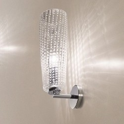 Wall lamp with glass...