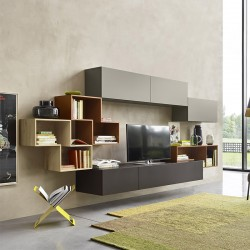 TV cabinet with open units - Tetris