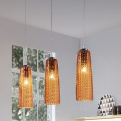Suspension lamp with glass...