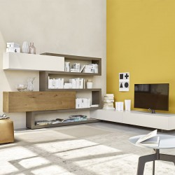 TV cabinet with shelves and wall units - Lampo 3