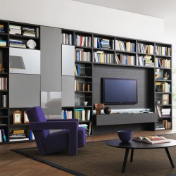 Modo composition bookcase with TV panel