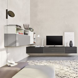 TV cabinet with desk and audio panel - Lampo 8