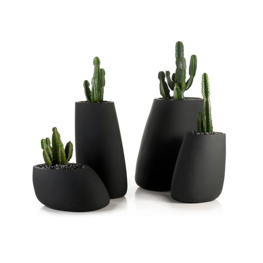 Stone resin planter various sizes