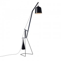 Floor Lamp with metal and wood frame