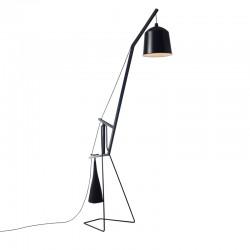 Lampada da terra metallo e legno -Floor Lamp