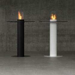 Steel bio-fireplace - Minerva table