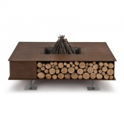 Toast wood-burning outdoor fire pit in steel