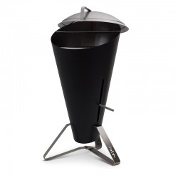 Cone barbecue in stainless...