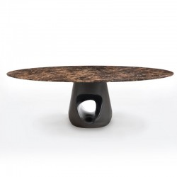 Oval table with marble top - Barbara