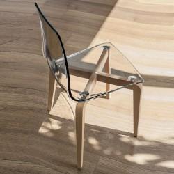 Sedia design legno e...