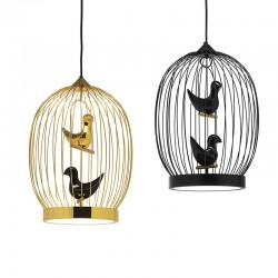 Suspended lamp in metal -