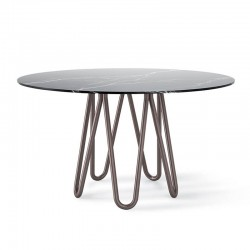 Tavolo in metallo e marmo - Meduse