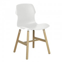 Stereo Wood chair in polypropylene