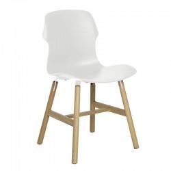 Stereo Wood sedia in legno e polipropilene