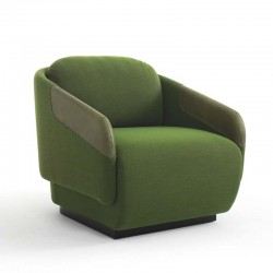 Armchair in fabric, eco-leather or leather - Worn