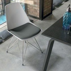 Design chair with metal...