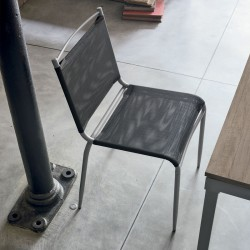 Chair with net seat and...