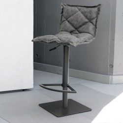 Stool in eco-leather upholstery - Digione