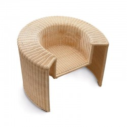 Charlotte armchair in natural wicker