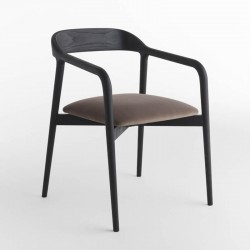 Velasca wood chair covered in fabric, eco-leather or leather
