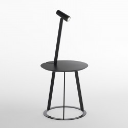 Tavolino/comodino in metallo luce led - Albino