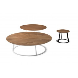 Tavolino tondo in legno e metallo - Albino
