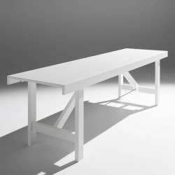 Wooden table extendable in width - Capriata