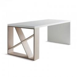 Tavolo/scrivania laccata con libreria - J-Table