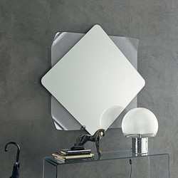 Mirror with curved glass...